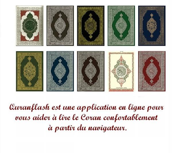 Quranflash est une application en ligne