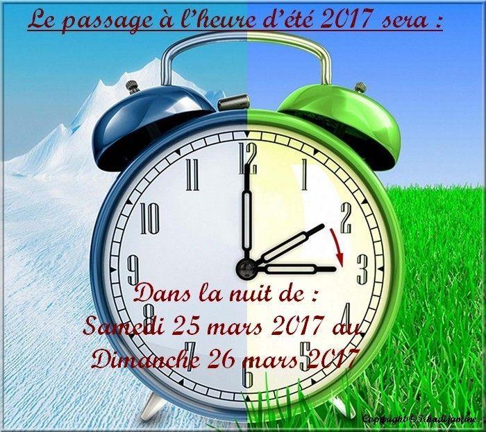 N 39 oubliez pas de faire le changement d 39 heure d 39 t - Changement heure ete 2017 ...