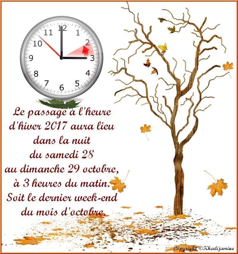 N 39 oubliez pas de faire le changement d 39 heure hiver 2017 - Changement heure d hiver 2017 ...